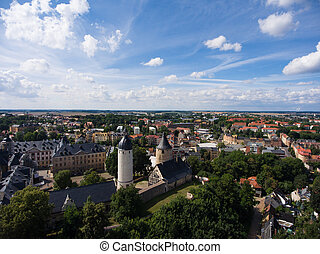 Aerial View Altenburg Thuringia Castle old medieval town