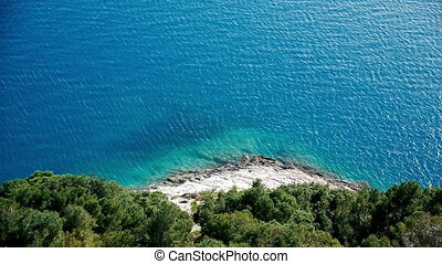 Aerial view at mediterranean coast
