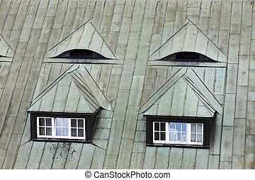 Attic window. Roof window