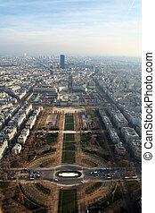 Aerial view at Paris