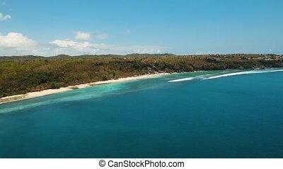 Aerial view beautiful beach, Bali. - Aerial view of...