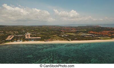 Aerial view beautiful beach, Bali.