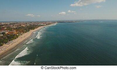 Aerial view beautiful beach, Bali, Kuta.