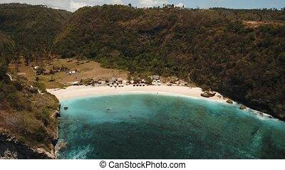 Aerial view beautiful beach. Nusa Penida
