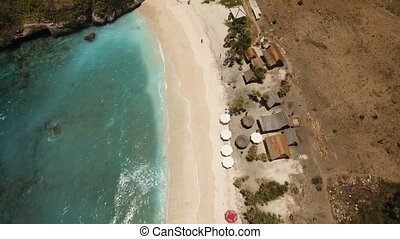 Aerial view beautiful beach. Nusa Penida