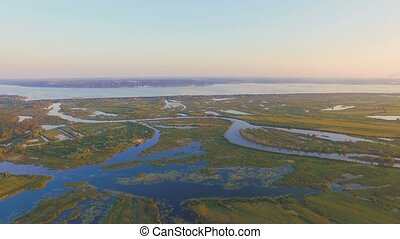 Aerial View: Beautiful landscape. 4k 30fps
