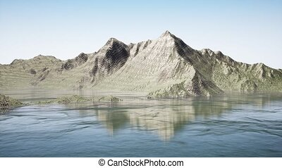 Camera movement in fantastic mountains - Aerial view Camera...
