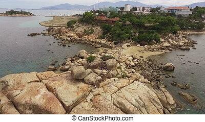 Aerial View Cape Hon Chong in Vietnam - Garden of stones,...