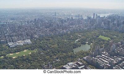 aerial view central park manhattan