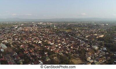 aerial view city Yogyakarta, Indonesia - aerial view...