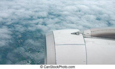 Aerial View Community under a Thin Cloud Deck. Video 1920x1080