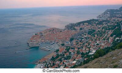 Aerial view Dubrovnik old town - Aerial view Dubrovnik Old ...