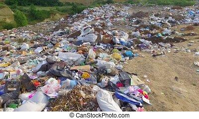 AERIAL VIEW. Environmental problems in Ukraine. Environmental pollution.
