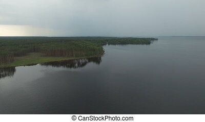 Aerial View Footage of Coastline.