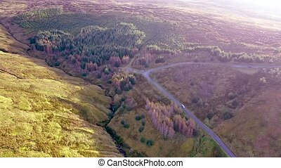 Aerial view from Glengesh Pass by Ardara, Donegal, Ireland.