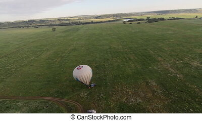 Aerial View from Hot Air Balloon Ride