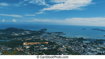 Aerial view from Monkey Hill in Phuket - Aerial drone view...