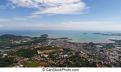 Aerial view from Monkey Hill in Phuket - Aerial drone view ...