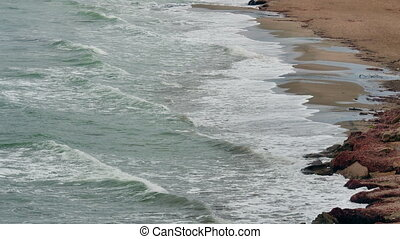Aerial View from Sea beach 4k