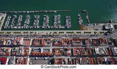 Aerial. View from the sky of village of Vili Real Santo...