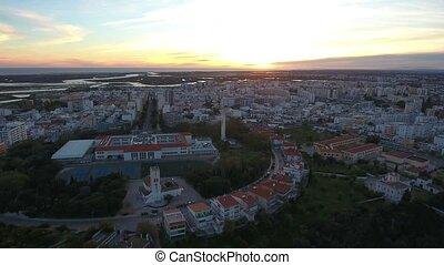 Aerial. View from the sky, the streets Alto Santo Antonio,...