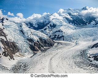 Aerial view glacier
