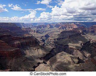 Aerial view grand canyon