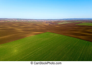 Aerial View Green Field