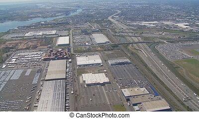 aerial view highway