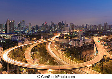 Aerial view Highway interchanged