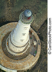 Aerial view, historical lighthouse of Cordouan, Gironde estuary