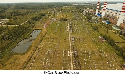 Hydroelectric power station - Aerial view Hydroelectric...