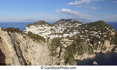 aerial view in Capri, Italy.