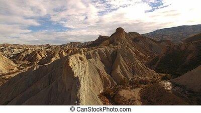 Aerial View in the desert, Sierra Alhamila, Spain - Sierra...