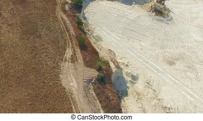 AERIAL VIEW. Limestone Open Pit In Bakhchisarai, Crimea