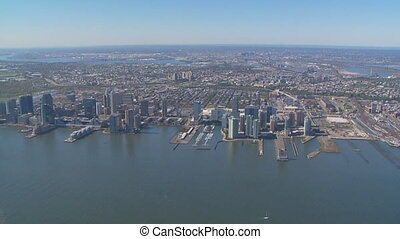 aerial view hudson river new jersey