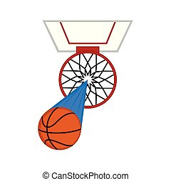 Aerial view of a basketball hoop