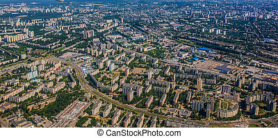 Aerial view of a city