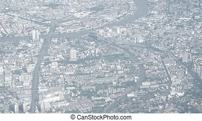 Aerial View of a Crowded Cityscape