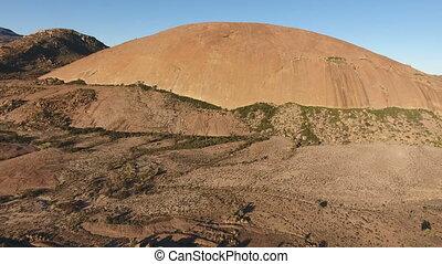 Aerial view of a granite rock - Sou