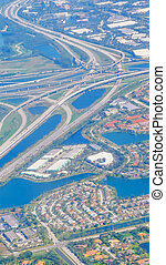Aerial view of a highway in Fort Lauderdale