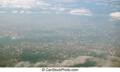 Aerial View of a Large City in Asia. 1080p DCI footage