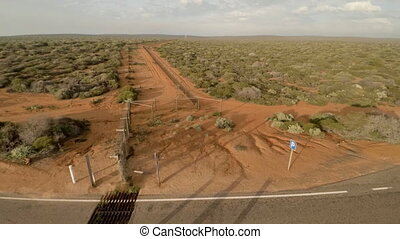 Aerial view of a long road in desert - Aerial view of a long...