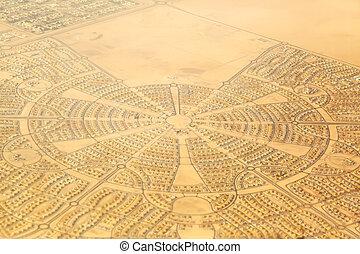 Aerial View of a Neighborhood in Abu Dhabi