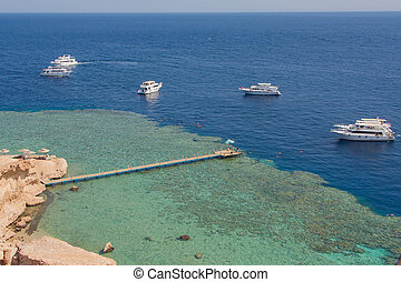 Aerial view of a pier.