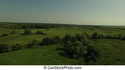 Aerial view of a Russian sunny landscape