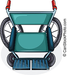 Aerial view of a wheelchair