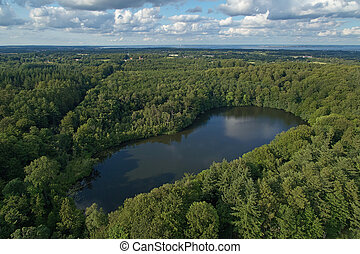 Aerial view of Agersoe in Denmark
