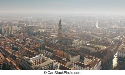 Aerial view of Alessandria cityscape, Italy - Aerial view of...