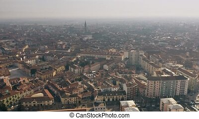 Aerial view of Alessandria. Piedmont, Italy - Aerial view of...